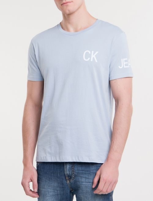 Camiseta Ckj Mc Global - Azul Claro