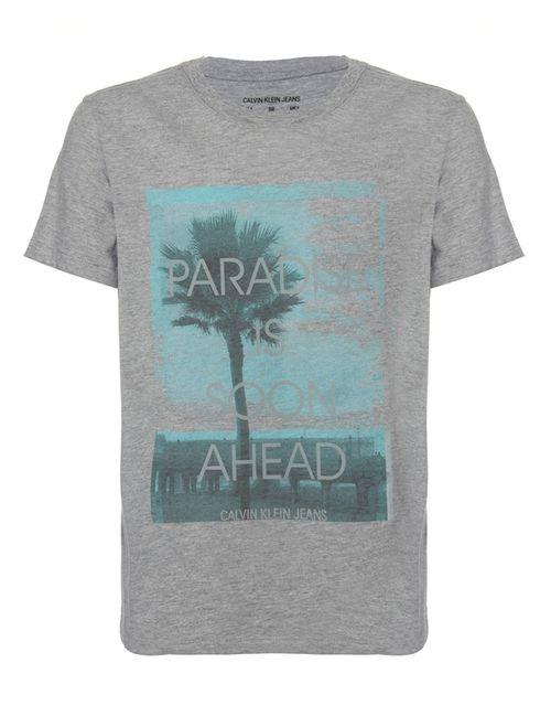 Camiseta Ckj Mc Est Paradise - Mescla