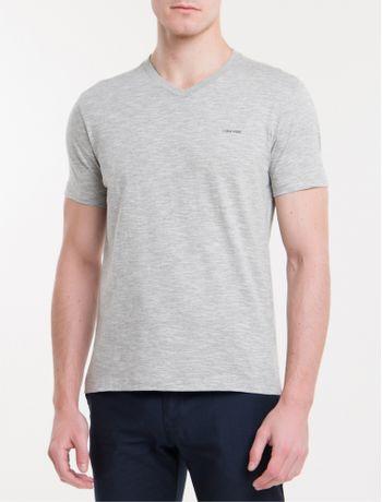 Camiseta-Slim-Flame-Gola-V-Calvin-Klein---Mescla-