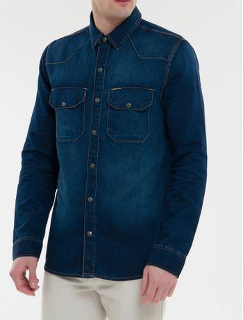 Camisa-Jeans-Manga-Longa---Marinho-