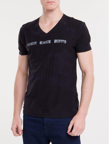 Camiseta-Ckj-Mc-Est-Logo-Pintura---Preto-