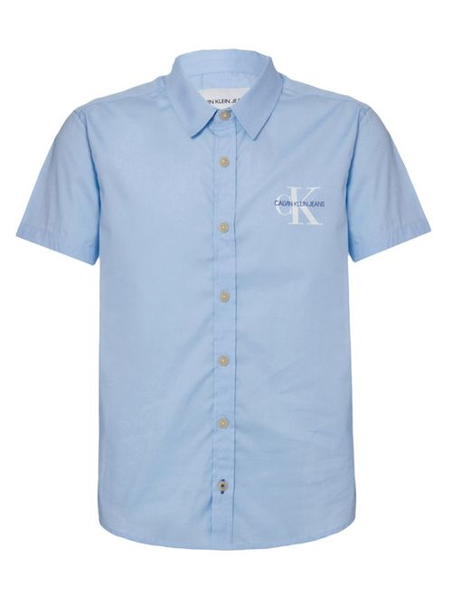 Camisa Mc Ckj Com Silk Re Issue - Azul Claro