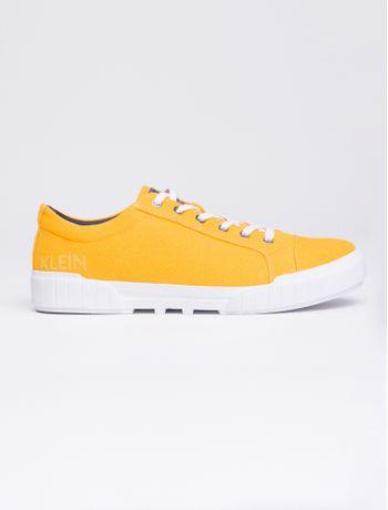 Tenis-Ckj-Masc-Basico-Lona-Est-Logo---Amarelo-Ouro-