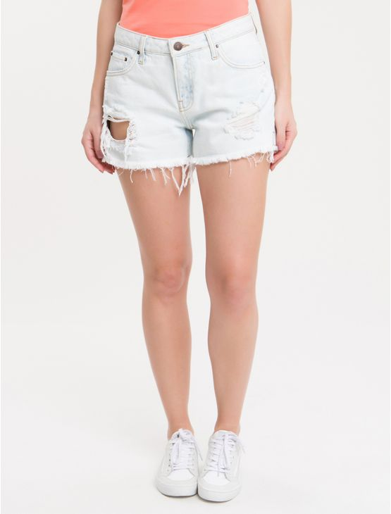Shorts-Jeans-Five-Pockets---Off-White-