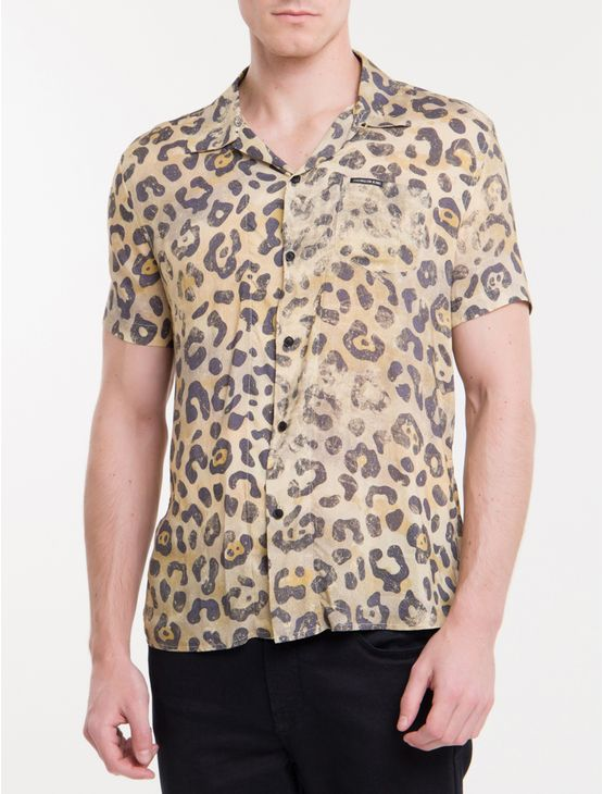 Camisa-Mc-Ckj-Masc-Estampa-Animal-Print---Areia-