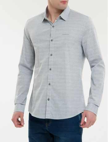 Camisa-Ml-Ckj-Masc-Listrado-Com-Silk-Log---Cinza-Claro-