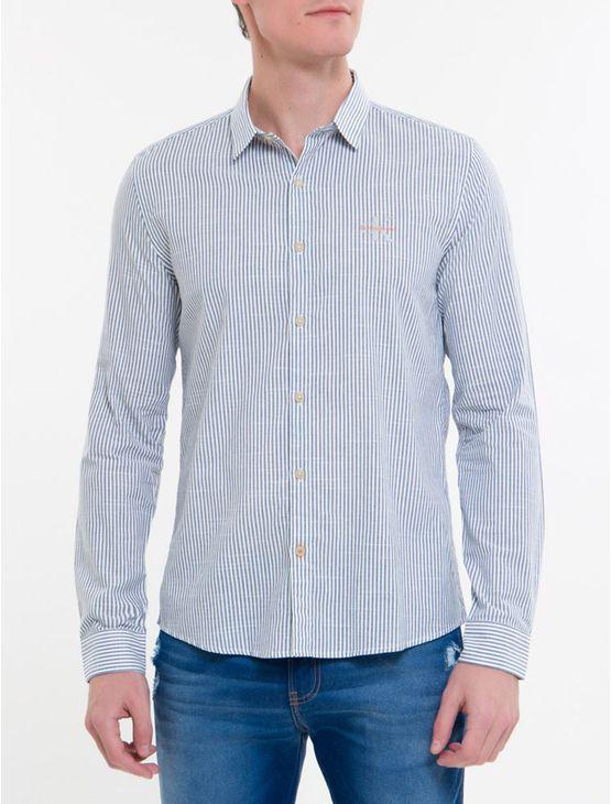 Camisa-Ml-Ckj-Masc-Listrada-Com-Silk-Log---Azul-Claro-