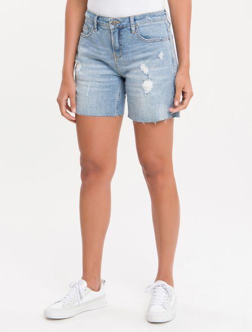 Bermuda Jeans Five Pockets - Azul Claro