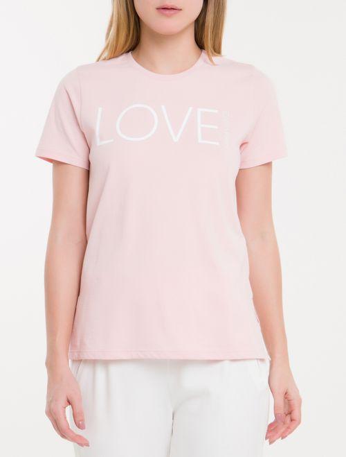 Camiseta Baby Look New Year Love - Rosa Claro