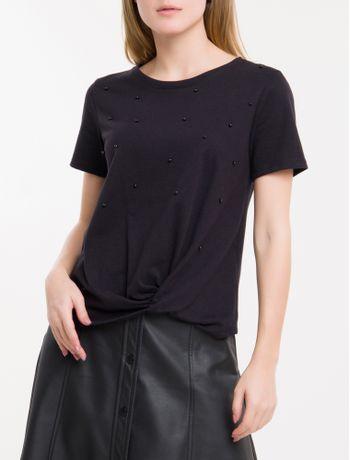 Camiseta-Perolas-Calvin-Klein---Preto-