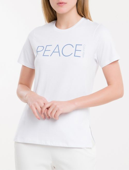 Camiseta Baby Look New Year Peace - Branco 2