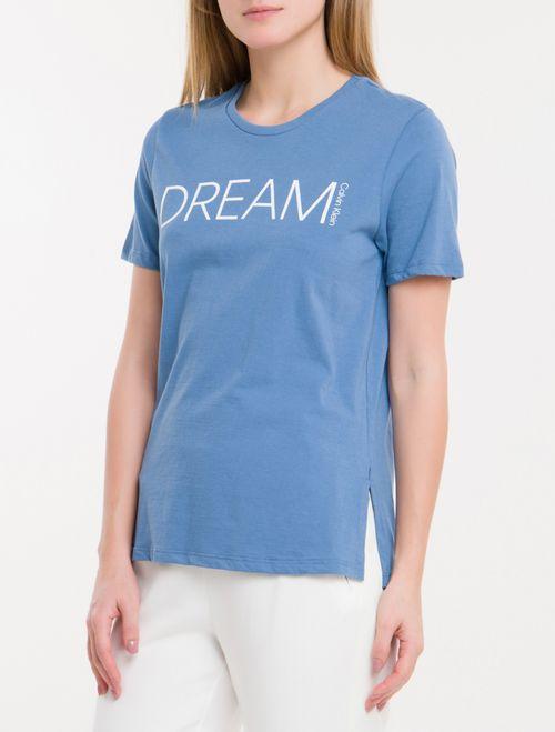 Camiseta Baby Look New Year Dream - Azul Claro