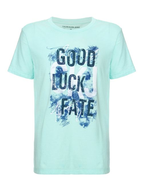 Camiseta Ckj Good Luck Fate - Verde Claro