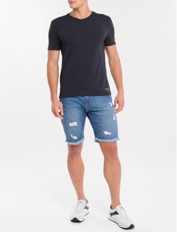 Kit-2-Camisetas-De-Cotton-Gola-Careca---Preto-