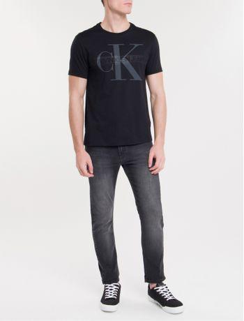 Camiseta-Ckj-Mc-Re-Issue-Debossed---Preto-