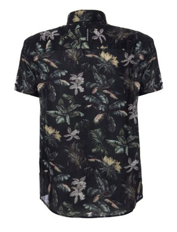 Camisa-Mc-Ckj-Est-Floral-Jungle-Silk-Log---Preto-