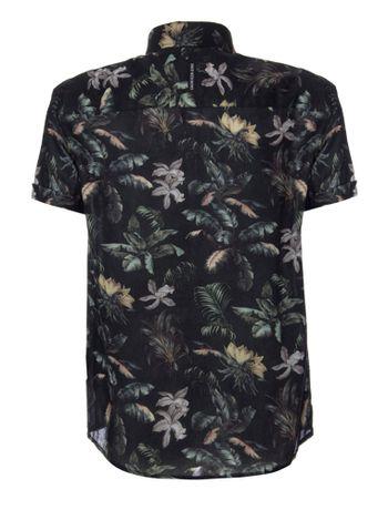 Camisa-Mc-Ckj-Est-Floral-Jungle-Silk-Log---Preto-