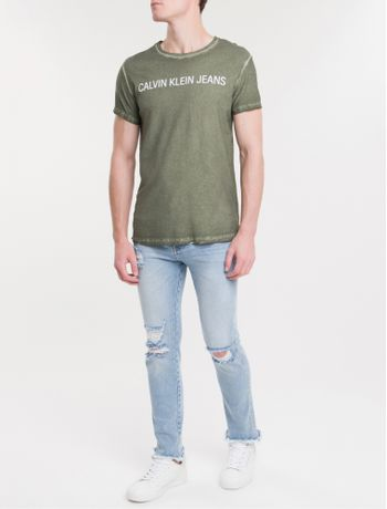 Camiseta-Ckj-Mc-Est-Logo-Basica---Militar-