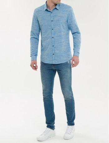 Camisa-Ml-Ckj-Masc-Maquinetado-Com-Silk---Azul-Claro-