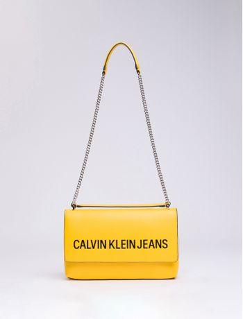 Bolsa-Ckj-Fem-Sculpted-Lg-Ew-Flap---Amarelo-Ouro-