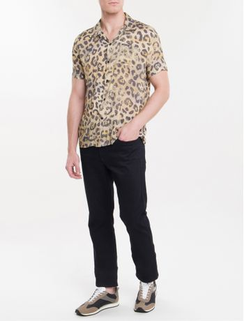 Camisa-Mc-Ckj-Masc-Estampa-Animal-Print---Areia-