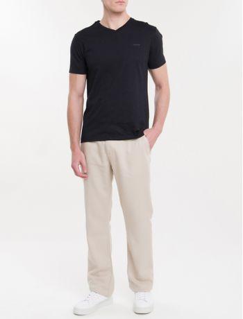 Camiseta-Slim-Flame-Gola-V-Calvin-Klein---Preto-