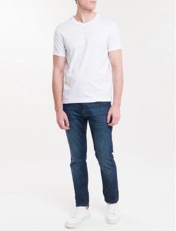 Camiseta-Slim-Flame-Gola-V-Calvin-Klein---Branco-2-