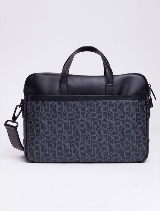 Bolsa-Ck-Mono-1-Gusset-Laptop-Bag---Preto-