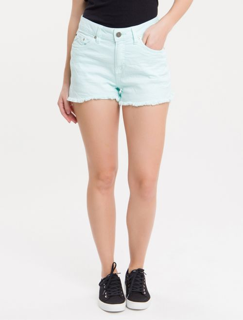 Shorts Color Five Pockets - Azul Turquesa