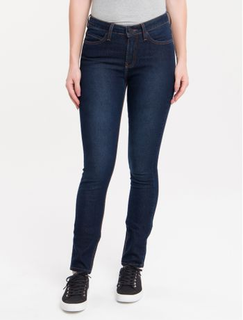 Calca-Jeans-Five-Pockets-Mid-Rise-Skinny---Marinho