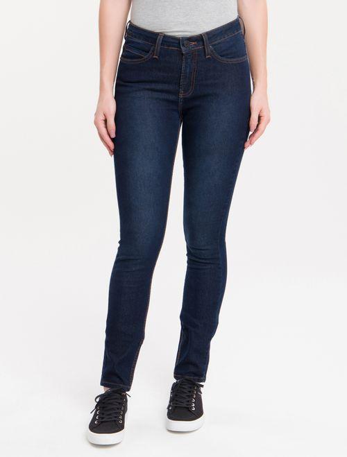 Calça Jeans Five Pockets Mid Rise Skinny - Marinho