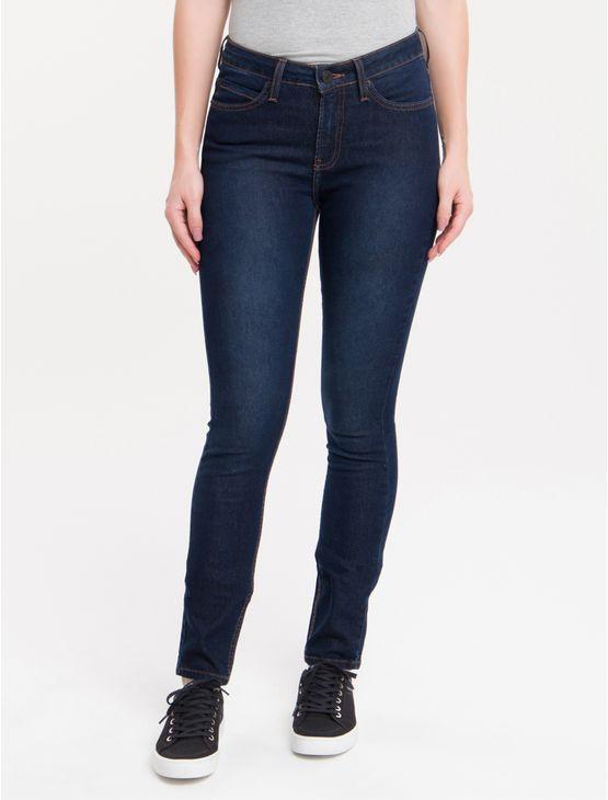 Calca-Jeans-Five-Pockets-Mid-Rise-Skinny---Marinho