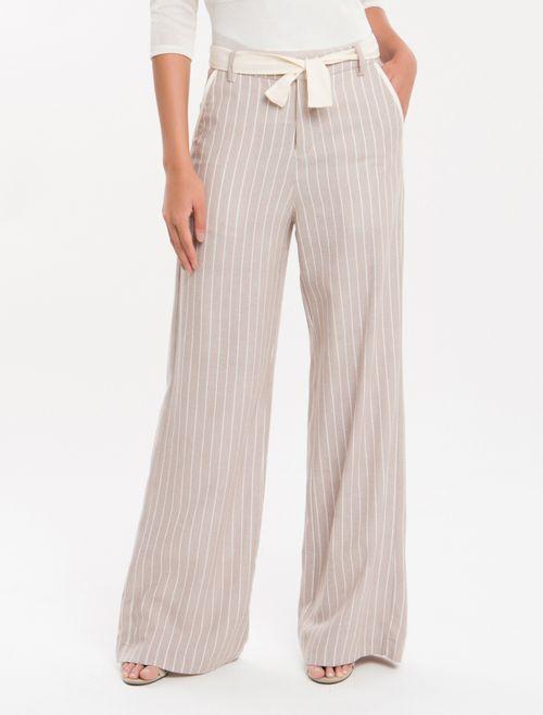 Calça Pantalona Nilo Calvin Klein - Caqui Claro