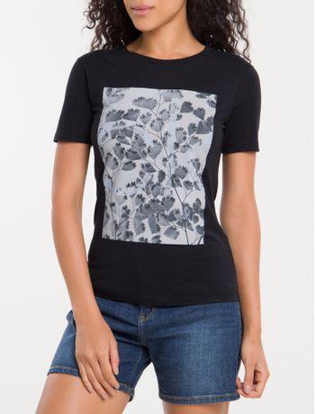 Camiseta-Folhas-Calvin-Klein---Preto