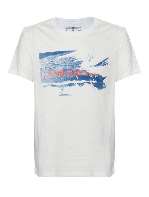 Camiseta Ckj Mc Est Calvin Rasgado - Branco 2