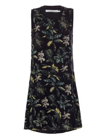 Vestido-Malha-Ckj-Floral-Jungle---Preto-