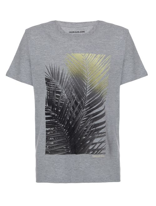 Camiseta Ckj Mc Est Folha Coqueiro - Mescla