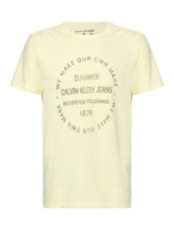 Camiseta-Ckj-Summer-Jeans---Amarelo-Claro-