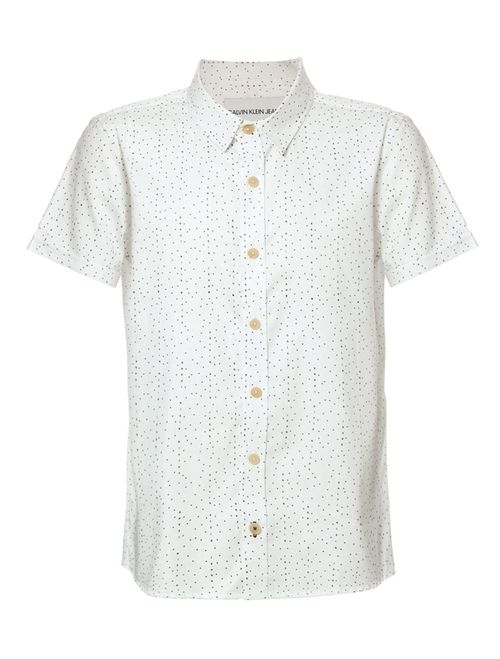 Camisa Mc Ckj Microprint Calvin - Branco 2