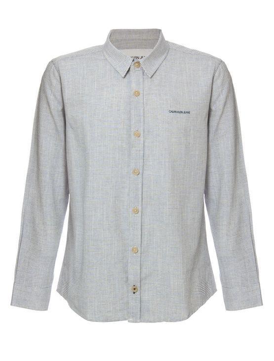 Camisa-Ml-Ckj-Listrada-Linen-Silk-Logo---Azul-Claro-
