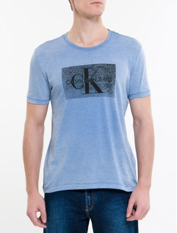 Camiseta-Ckj-Mc-Re-Issue-Devore---Azul-Escuro