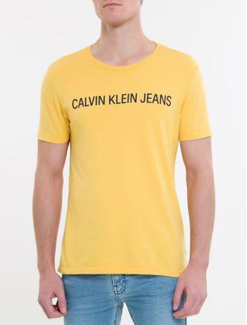 Camiseta-Ckj-Mc-Institucional---Mostarda