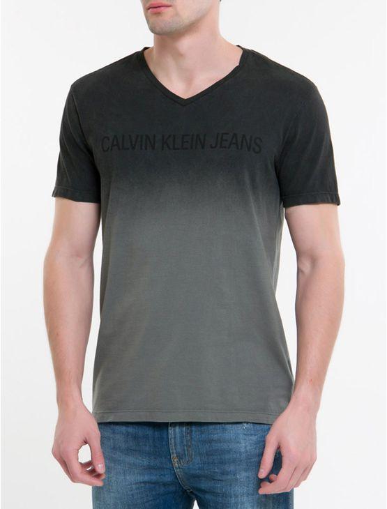 Camiseta-Ckj-Dec.-V-Mc-Logo---Chumbo