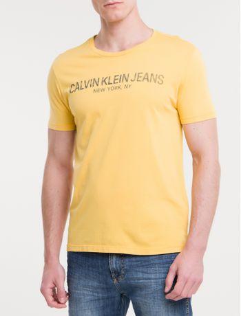 Camiseta-Ckj-Mc-Est-Calvin-Ny---Mostarda