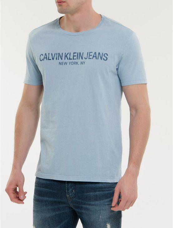 Camiseta-Ckj-Mc-Est-Calvin-Ny---Azul-Claro
