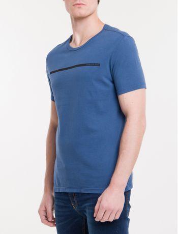 Camiseta-Ckj-Mc-Est-Palito---Azul-Escuro