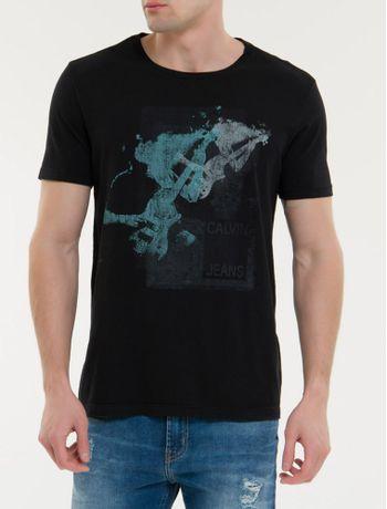 Camiseta-Ckj-Mc-Est-Gitarra---Preto