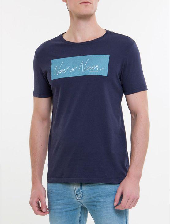 Camiseta-Ckj-Mc-Est-New-Or-Never---Marinho
