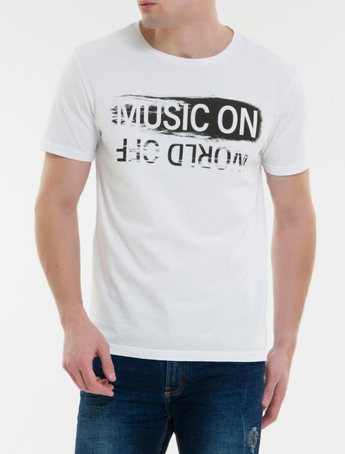 Camiseta Ckj Mc Est Music On - Branco 2