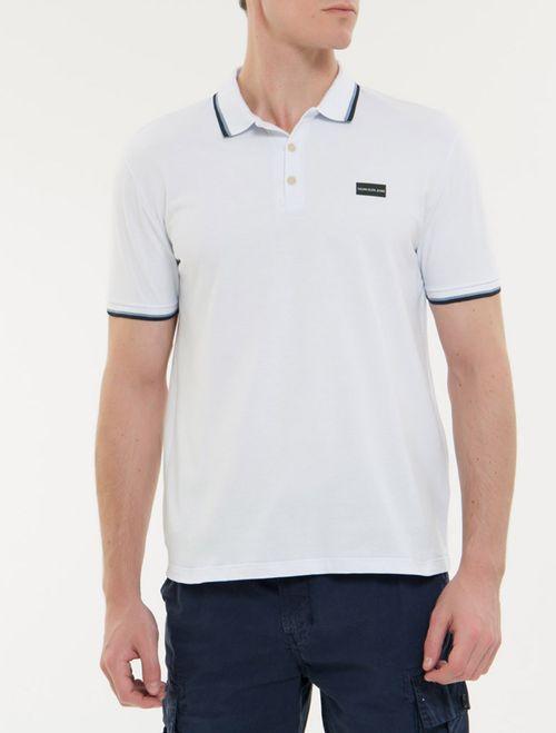 Polo Ckj Mc Termocolante Logo - Branco 2